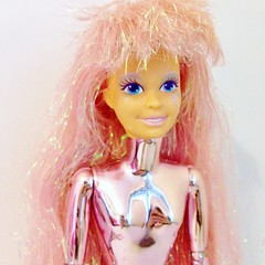 1987 Spectra Doll (Mattel) (The Barbie Room) Tags: pink metal robot doll lace space 1987 alien hologram barbie 80s glam jem outer spectra 1980s mattel
