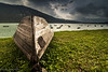 nel lago di Santa croce (paolotrapella) Tags: barca boat lago water sky clouds
