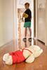 Week 45 Artistic Nostalgia (sueleigh1) Tags: child hallway warmcolours teddybear lookingback nostalgia dogwood52