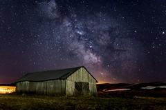 La vielle grange au mois de mai (pfala) Tags: pfala paulfalardeau milky way stars night nightshot sky saguenay nite black barn