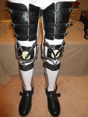 Front View Triple Thigh Strapped KAFO Leg Braces (KAFOmaker) Tags: brace braces braced bracing afo kafo leather metal orthopedic caliper calipers orthese orthotic orthosis orthoses orthosen fetish bound bondage restraint restraints restrain restraining