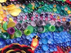 Ocala, FL, Appleton Museum of Art, Exhibit on Sustainable Living, Reusing Plastic (Mary Warren (8.7+ Million Views)) Tags: ocalafl appletonmuseumofart art sculpture plastic pattern colorful bright