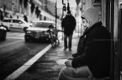 Rome # 3 (davide978) Tags: davide978 mg7306 roma rome street strada people man povertà poor biancoenero bianco nero black blackandwhite 50 canonef50mmf14usm bokeh vignetting