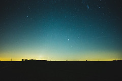 Looking up (Luca VS) Tags: sky stars night horizon étoiles ciel nuit belgium blue