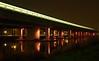 Metro Station. (andre1949) Tags: avond nacht kleuren beweging licht donker metro hoogvliet beton water