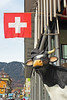 Swiss Miss (skipmoore) Tags: interlaken switzerland swiss flag cow