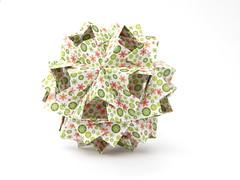 Валя, с днем рождения! (ronatka) Tags: kusudama rectangle12 modularorigami birthday gift green red white whitebackground unnamed