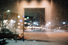 indistinct (almostsummersky) Tags: glass snowfall window snowstorm street water maine droplets snow lights portland car fortis reflection winter night bokeh waterdrops winterstorm unitedstates us