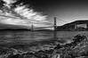 Gold in Black and White (K.R. Watson Photography) Tags: san francisco golden gate bridge blackandwhite bay