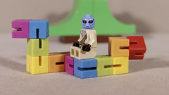 Riding the worm (Busted.Knuckles) Tags: home toys lego miniature alien canonsl1