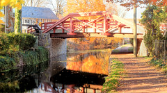 Panorama 3132_blended_fused_pregamma_1_fattal_alpha_1_beta_0.9_saturation_1_noiseredux_0_fftsolver_1 small (bruhinb) Tags: bridge water reflectons canal towpath trail autumn hdr newhope pa usa thetowpathtrail delawarecanal