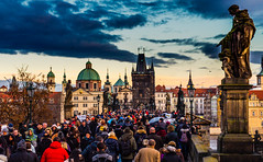 The city of the hundred spires (Faisal Ahmed Photography) Tags: prag charles bridge sunset outdoor spires architecture europe