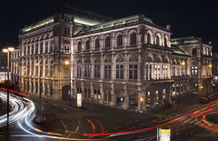 Tanz in den Häusern der Stadt (cherryspicks (on/off)) Tags: operahouse architecture building vienna austria night longexposure urban city landmark