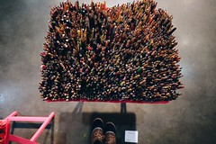 Art tools become art themselves. #ContemporaryArt 🎨 (redshutterbugg) Tags: artshow pencils colored photography passion art dtla fujifilmxworld tvtray love discoverla fujifilmxseries laartshow contemporaryart