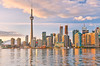 The reflection of Toronto skyline at dusk in Ontario, Canada. (winnyeducation2015) Tags: settle canada toronto skyline sunset city panoramic cityscape tower twilight scenic nightlife urbanscene sky downtowndistrict backgrounds ontario photography skyscraper famousplace blue waterfront builtstructure colors buildingexterior lake reflection colorimage architecture dark water citylife dusk travellocations nature outdoors clearsky stadium arena panorama