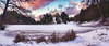 fire on the snow (cherryspicks (on/off)) Tags: landscape trakoscan croatia lake sunset winter snow clouds sky panorama landmark frozen outdoor cold castle building