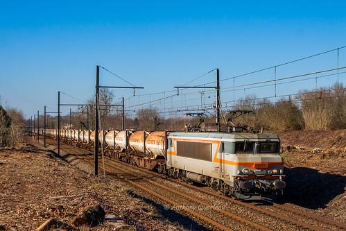 17 janvier 2017 BB 7371 Train 489113/2 Hendaye - St Jory Ayguemorte-les-Graves (33)