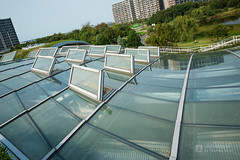 """Layered roofs, """"GRIN GRIN"""" (ぐりんぐりん) (christinayan01) Tags: park japan fukuoka landscape nature fields toyo ito"""