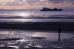 Gormley's Other Place!! (Malvern Firebrand) Tags: gormleys other place p o vessel heads liverpool crosby beach 21116 antony gormley merseyside seascene silhouette