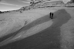 In Delicate Shade (JasonCameron) Tags: delicate arch arches national park utah monochrome black white landscape scenic shadow red rock sandstone