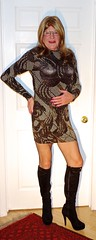 New sparkly dress 2 (donnacd) Tags: sissy tgirl clit clitty tgurl jewels dressing crossdress crossdresser cd travesti transgenre xdresser crossdressing feminization tranny tv ts feminized domina donna red dress scarf heels gold crossed legs pumps shoes panties thong polka dots white blouse earrings hair black stockings tights bra fishnet corset necklace collar he she look 易装癖 シーメール 性転換 第三性 跨性别 ミスターレディ