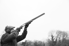 Aim Higher  21/365 (rmrayner) Tags: aimingashotgun shooting blackandwhite portrait 365project 365the2017edition 21365 20bore 20gauge shotgun rizzini