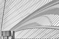 Calatrava waves (jefvandenhoute) Tags: belgium belgië belgique liège lines shapes calatrava guillemins railwaystation nikond800 photoshopcs6