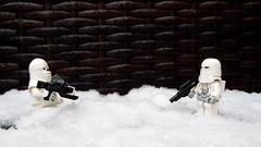 Snow Day 2 (silverhead2009) Tags: snow snowtrooper chewbacca chewie white frozen macro winter lego