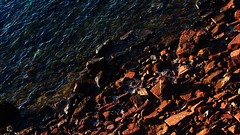 Blaugrana (lluiscn) Tags: beach platja aigua sea mar mediterrani cala cavalleria menorca illa balears island roig blau pedres roques zenital colors mediterrània rocas