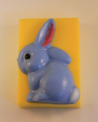 Bunny Facing Left $4.00 (Clelian Heights) Tags: clelianheights cleliancenter cleliansoaps unscented soaps easter easterbunny love