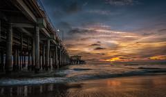 Santa Monica Sunset (mcalma68) Tags: santamonica sunset california losangeles seascape clouds sun pier