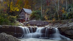 Mill love (Notkalvin) Tags: gladecreekgristmill gladecreek mill babcockstatepark outdoor fall autumn fallcolors couple love nature naturesbeauty waterfall falls creek water rockformations rocks cascades park photography color panorama panoramic wide treelined notkalvin mikekline notkalvinphotography