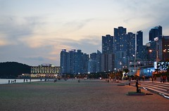 Haeundae Beach Night View (eaglelam89) Tags: travel asia korea busan haeundae
