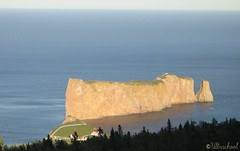 evening comes to the rock (Ultrachool) Tags: canada water rocks quebec panoramas hills heights monoliths perce gaspepeninsula