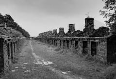 Dinorwic quarrymen's barracks 01 HD jul 15 (Shaun the grime lover) Tags: mountain building monochrome rain wales clouds industrial path slate llanberis barracks derelict quarry hdr dinorwic dinorwig angleseybarracks