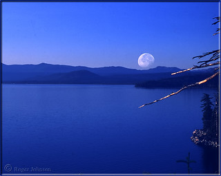 Moon Over Lake Tahoe ~~ A Double Exposure