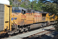 Union Pacific 5754 (GE AC4400CW-CTE) in San Jose, CA (Dom Blevins' Transit Photography) Tags: up train trainstation unionpacific blossomhill railroadphotography trainphotography blossomhillcaltrainstation