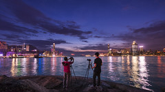 Causeway Bay Typhoon Shelter, Hong Kong (mikemikecat) Tags: people clouds landscape bay nightscape dusk sony cityscapes nightview shelter   typhoon  causeway        a7r   sel1635z fe1635mm mikemikecat