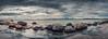 Shore panorama @ Lauttasaari, Helsinki (gofoxo) Tags: sea panorama nature water landscape helsinki rocks waves horizon shore darkclouds lauttasaari
