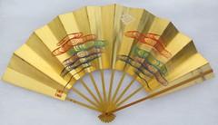The Multicolored Cloud Fan - Back (MissMyloko) Tags: cloud pine silver gold fan dance kyoto mai maiko geiko geisha   gion inoue ogi  kyomai     yachiyo kobu   chieju