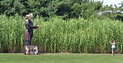 Smile, You Two! (MTSOfan) Tags: sculpture woman art corn photographer farmer snapper americangothic groundsforsculpture hamiltonnj g4s