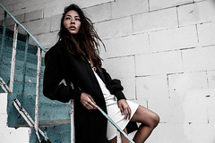 (Insomniac Freak) Tags: girl beauty fashion square asian noir streetfashion asianbeauty onstreet