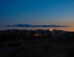 Cloud Over the Port Hills (Steve Taylor (Photography)) Tags: house newzealand nz southisland canterbury christchurch northnewbrighton porthills dusk spring sunset twilight cloud sky