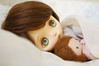 Feeling Under the Weather (little ❤ lovelies) Tags: jerryberry jerry somanystars bjd ball jointed resin doll littlelovelies handmade handcrafted plush dolly dollhouse little mori girl vintage lace cotton dresses silk scarf
