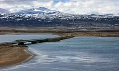 on course over the courseway (lunaryuna) Tags: iceland northiceland siglufjordur town fjord landscape seascape shoreline mountainrange textures lowtide spring season seasonalchange panorama panoramicviews lunaryuna