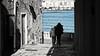 (mazzottaalessandra) Tags: lungomare seaside old people monocromo mare sea otranto italy canon contrast morning urban viuzza