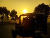 Golden Morning-1067 (Rajjib's Photo) Tags: morning nature sun road tree leaf street people vihecle sunrise life goldenmorning van transportation transport