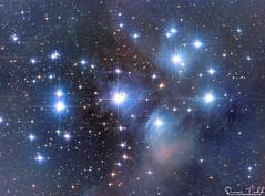 M45 - Pleiades - LRGB Mosaic 15 Megapixel (Simon Todd Astrophotography) Tags: m45 pleiades nebula nebulosity deep sky astronomy astrophotography long exposure skywatcher eq8 atik 383l celestron qhy5lii sevensisters taurus sequencegeneratorpro quattro astrometrydotnet:id=nova1869504 astrometrydotnet:status=solved