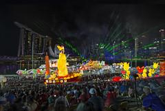 River Hongbao 2017 Singapore at The Float @ Marina Bay - Fireworks & Laser (gintks) Tags: gintaygintks gintks singapore singaporetourismboard singapur yoursingapore exploresingapore marinabayfinancialcentre marinabaysands thefloat thefloatmarinabay fireworks laser