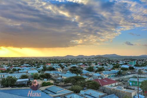 Part of the beautiful city Borama